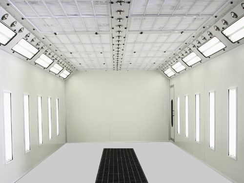 Example of Lighting inside an Ameri-cure Paint Booth